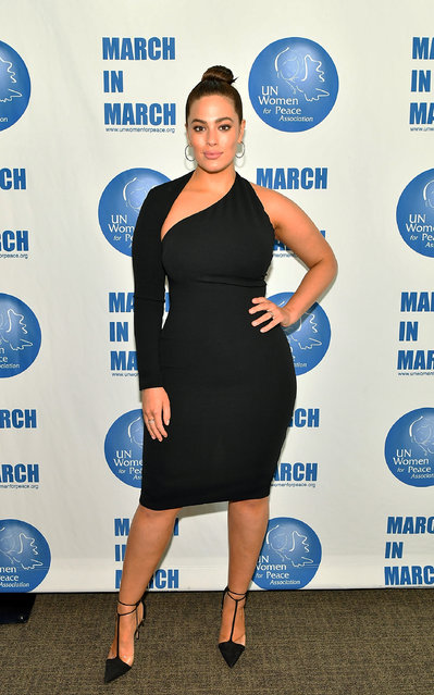 Model/author Ashley Graham attends International Women's Day United Nations Awards Luncheon on March 8, 2018 in New York City. (Photo by Slaven Vlasic/Getty Images)