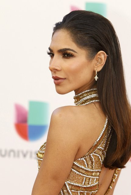 Model Alejandra Espinoza arrives at the 17th Annual Latin Grammy Awards in Las Vegas, Nevada, U.S., November 17, 2016. (Photo by Steve Marcus/Reuters)