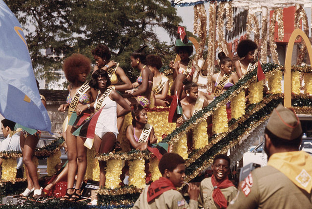 Participants on a float during the Bud Billiken Day parade along Dr. Martin L. King Jr. Drive, August 1973. (Photo by John H. White/NARA via The Atlantic)