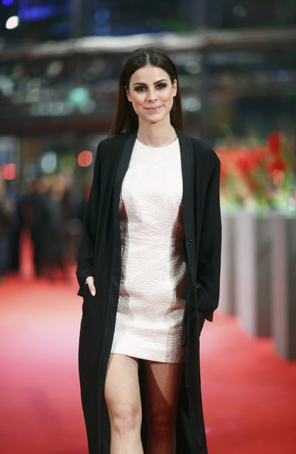 "Singer Lena Meyer-Landrut arrives for the screening of the movie ""Sworn Virgin"" in competition at the 65th Berlinale International Film Festival in Berlin February 12, 2015. (Photo by Hannibal Hanschke/Reuters)"