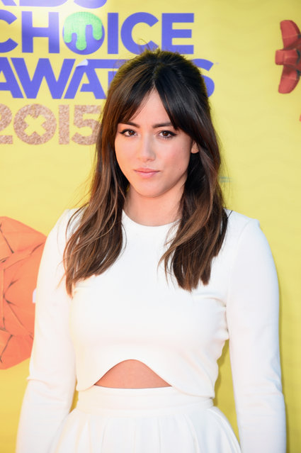 Actress Chloe Bennett attends Nickelodeon's 28th annual Kids' Choice Awards held at The Forum on March 28, 2015, in Inglewood, California. (Photo by Jason Merritt/Getty Images)