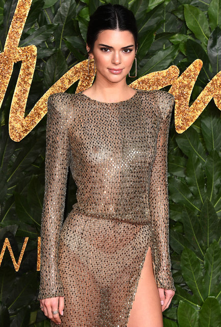 Kendall Jenner arrives at The Fashion Awards 2018 In Partnership With Swarovski at Royal Albert Hall on December 10, 2018 in London, England. (Photo by Jeff Spicer/BFC/Getty Images for BFC)