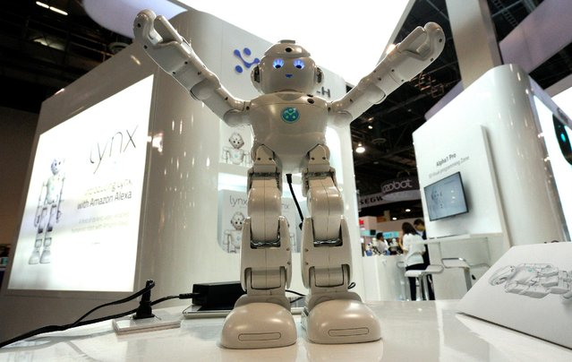 A Lynx robot with Amazon Alexa integration is on display at the Robotics Marketplace at CES in Las Vegas, U.S., January 5, 2017. (Photo by Rick Wilking/Reuters)