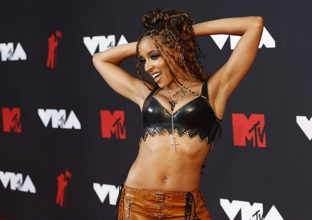 Tinashe attends the 2021 MTV Video Music Awards at Barclays Center on September 12, 2021 in the Brooklyn borough of New York City. (Photo by Andrew Kelly/Reuters)
