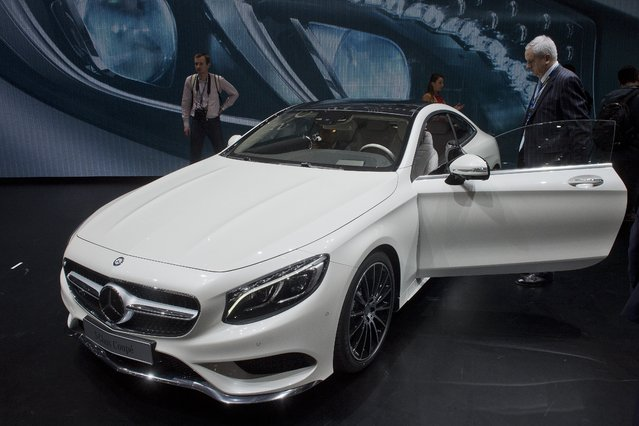 The New Mercedes S-Class Coupe is  on display at the 84.  Geneva International Motor Show in Geneva, Switzerland, Tuesday, March 4, 2014. (Photo by Sandro Campardo/AP Photo/Keystone)