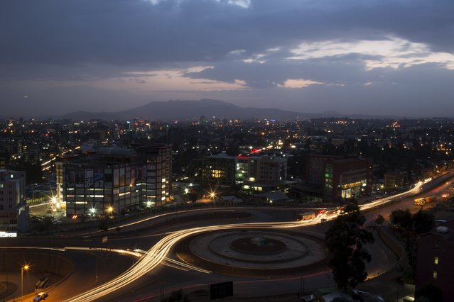 A general view shows part of the capital Addis Ababa at night, Ethiopia, May 17, 2015. (Photo by Siegfried Modola/Reuters)
