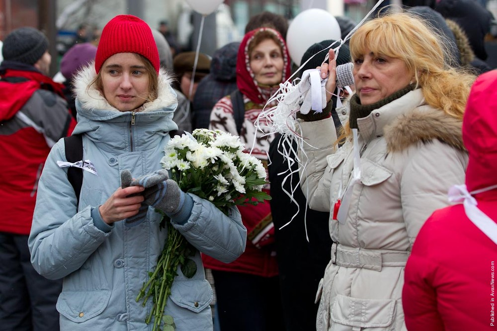 Tens Of Thousands Of Protestors Take To Streets Of Moscow