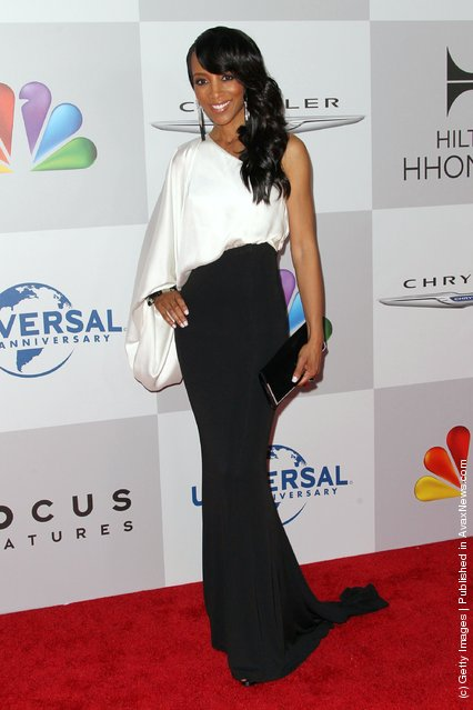 Actress Shaun Robinson arrives at NBC Universal's 69th Annual Golden Globe Awards After Party