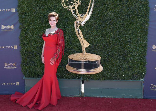 Carolyn Hennesy arrives at the 44th Annual Daytime Emmy Awards at the Pasadena Civic Center on Sunday, April 30, 2017, in Pasadena, Calif. (Photo by Richard Shotwell/Invision/AP Photo)