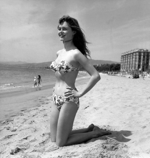 Young Brigitte Bardot making her debut in a bathing suit during the 6th Int ernational Cannes Film Festival. Cannes, France, 1953. (Photo by SIPA Press)