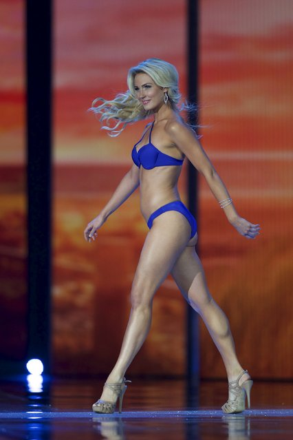 Miss California Bree Morse competes in the swimsuit competition during the first night of preliminaries of Miss America at Boardwalk Hall in Atlantic City, New Jersey, September 8, 2015. (Photo by Mark Makela/Reuters)
