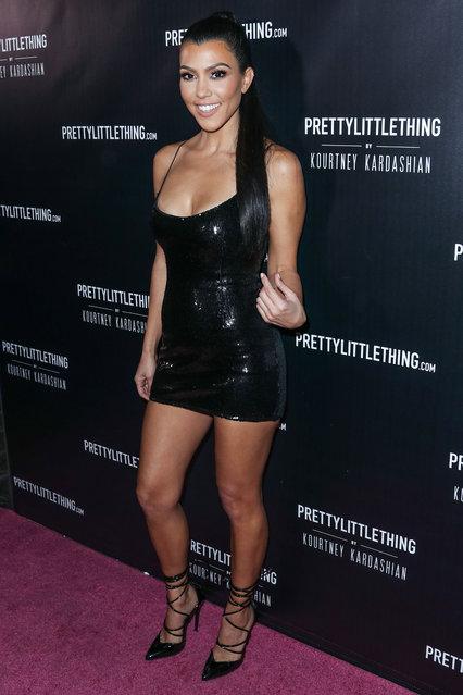 Kourtney Kardashian arrives at the PrettyLittleThing By Kourtney Kardashian Launch held at Poppy on October 25, 2017 in West Hollywood, Los Angeles, California, United States. (Photo by Xavier Collin/Image Press Agency/Splash News)
