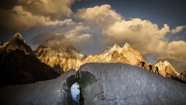 A view of the Gasherbrum IV massif. (Photo by David Kaszlikowski/Rex Features)