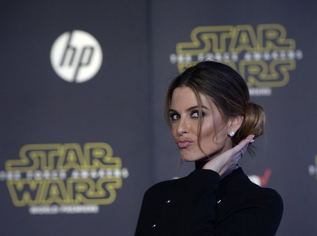"Actress Maria Menounos poses as she arrives at the premiere of ""Star Wars: The Force Awakens"" in Hollywood, California December 14, 2015. (Photo by Kevork Djansezian/Reuters)"