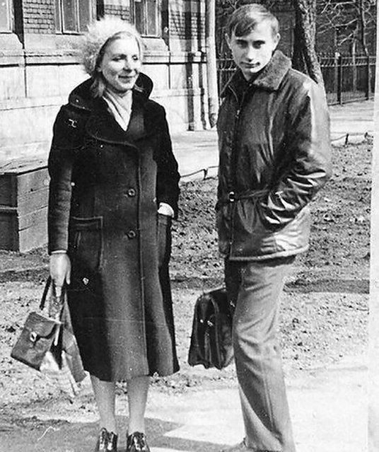 Young Vladimir Putin. (Photo by Russian Look via ZUMA Wire)