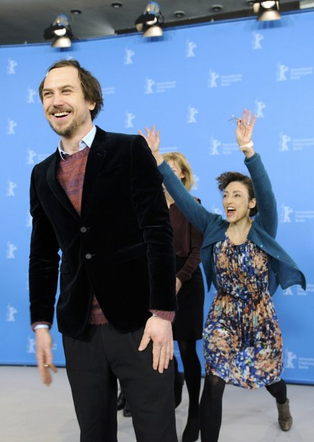 "Actor Lars Eidinger and director Stina Werenfels (R) pose during a photo call to promote the in-panorama film ""Dora or The Sexual Neuroses of Our Parents"" at the 65th Berlinale International Film Festival in Berlin February 12, 2015. (Photo by Stefanie Loos/Reuters)"