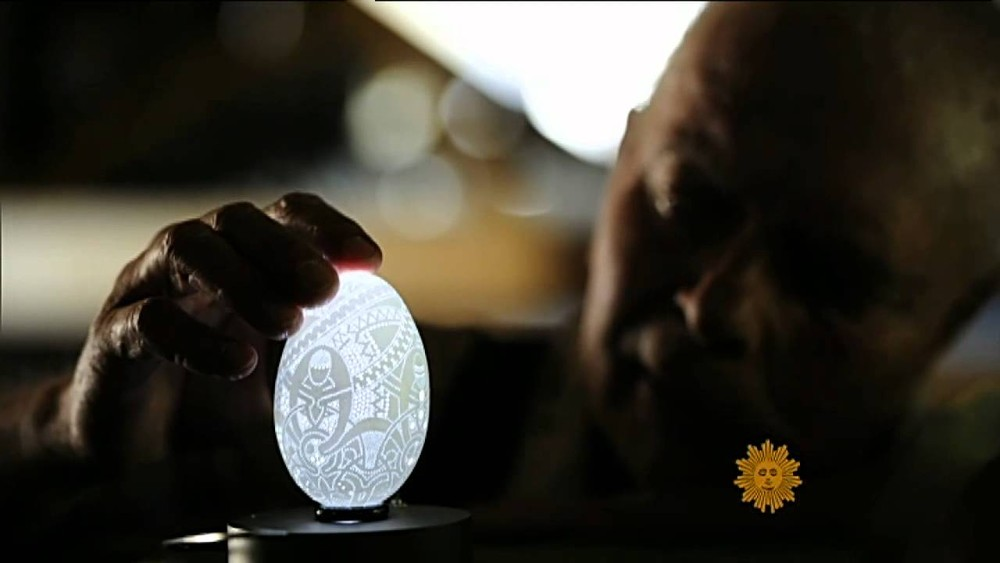 Egg Sculptures by Franc Grom