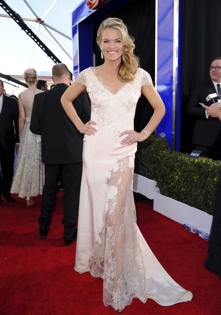 Missi Pyle arrives at the 23rd annual Screen Actors Guild Awards at the Shrine Auditorium & Expo Hall on Sunday, January 29, 2017, in Los Angeles. (Photo by Richard Shotwell/Invision/AP Photo)