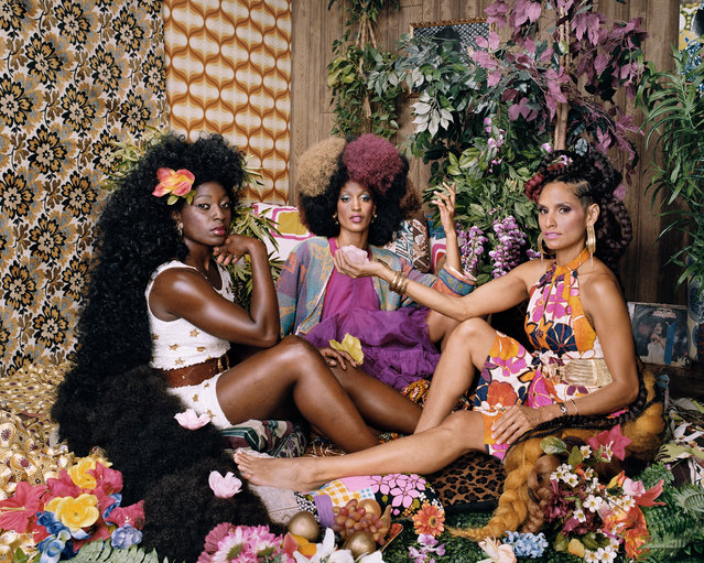 Les Trois Femmes Deux, 2018. (Photo by Mickalene Thomas/Courtesy of Yancey Richardson Gallery, New York)