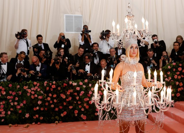 "Katy Perry attends the 2019 Met Gala celebrating ""Camp: Notes on Fashion"" at the Metropolitan Museum of Art on May 06, 2019 in New York City. (Photo by Andrew Kelly/Reuters)"