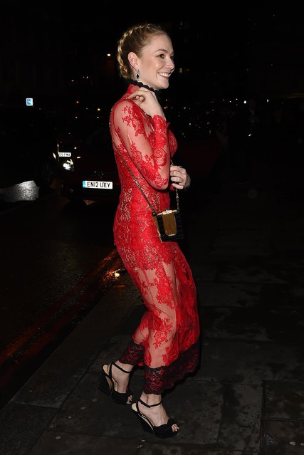 Clara Plaget leaving Sushi Samba restaurant on February 28, 2017 in London, England. (Photo by Splash News and Pictures)