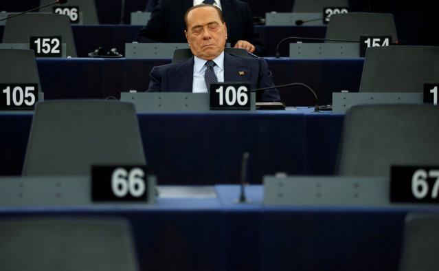 Italian Member of the European Parliament Silvio Berlusconi attends a voting session to elect the new president of the European Parliament during the first plenary session of the newly elected European Assembly in Strasbourg, France, July 3, 2019. (Photo by Vincent Kessler/Reuters)