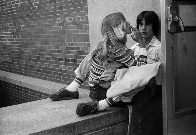 """""""Anthony & Terry"""", 1977. """"I decided that if I was going to be there any length of time I would have to make my classes as interesting and fun and exciting as possible, so I brought my camera to class to photograph the students in an attempt to connect with them. And that made all the difference"""". (Photo by Joseph Szabo/Courtesy of Michael Hoppen Gallery/The Guardian)"""