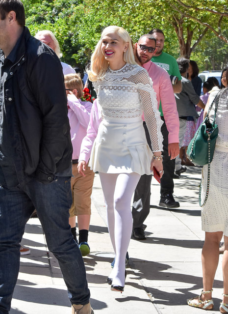 Gwen Stefani is seen on April 16, 2017 in Los Angeles, California. (Photo by BG015/Bauer-Griffin/GC Images)
