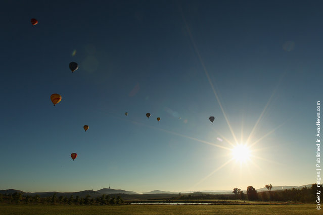 Balloons participate in the Balloon Spectacular during Canberra Festival on 2012 in Canberra, Australia