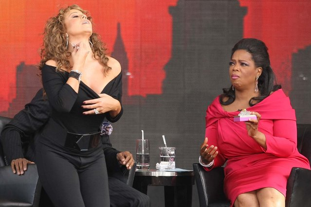 Singer Mariah Carey and TV personality Oprah Winfrey appear on The Oprah Winfrey Show: Fridays Live From New York at Rumsey Playfield on September 18, 2009 in New York City. (Photo by Michael Loccisano/Getty Images)