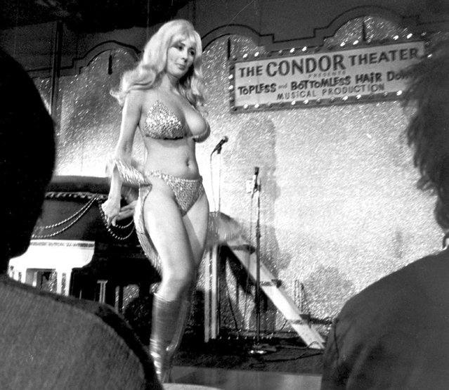In this September 21, 1978 file photo, Carol Doda performs at the Condor Theater in San Francisco. (Photo by AP Photo)