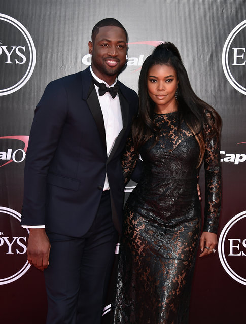 NBA player Dwyane Wade (L) and actress Gabrielle Union attend the 2016 ESPYS at Microsoft Theater on July 13, 2016 in Los Angeles, California. (Photo by Alberto E. Rodriguez/Getty Images)
