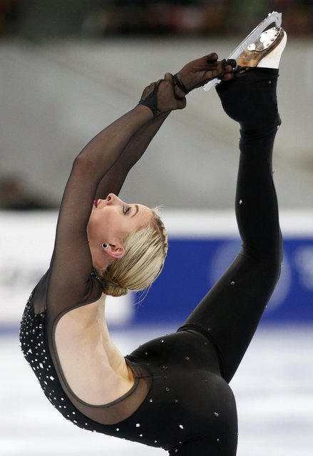 Ashley Cain of the U.S. performs during the ladies short program at the Rostelecom Cup ISU Grand Prix of Figure Skating in Moscow November 14, 2014. (Photo by Grigory Dukor/Reuters)