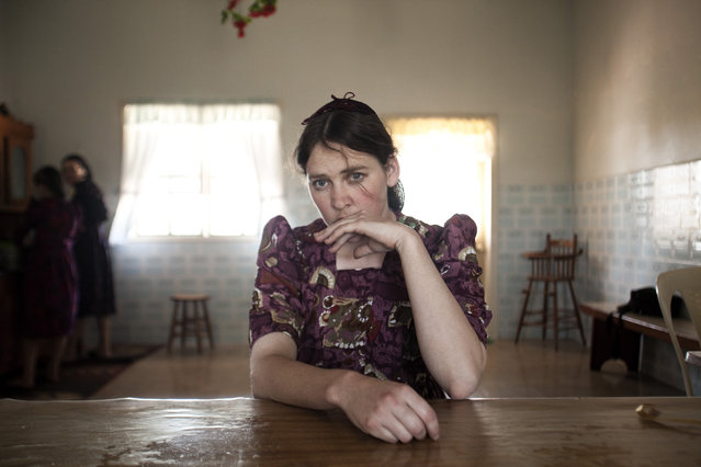"""Maria Teichroeb, a member of a community of Mennonites in Bolivia"". Taylor Wessing photographic portrait prize 2012. (Photo by Jordi Ruiz Cirera)"