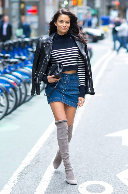 Model Shanina Shaik attends the 2016 Victoria's Secret Fashion Show call backs on October 25, 2016 in New York City. (Photo by Michael Stewart/Getty Images)