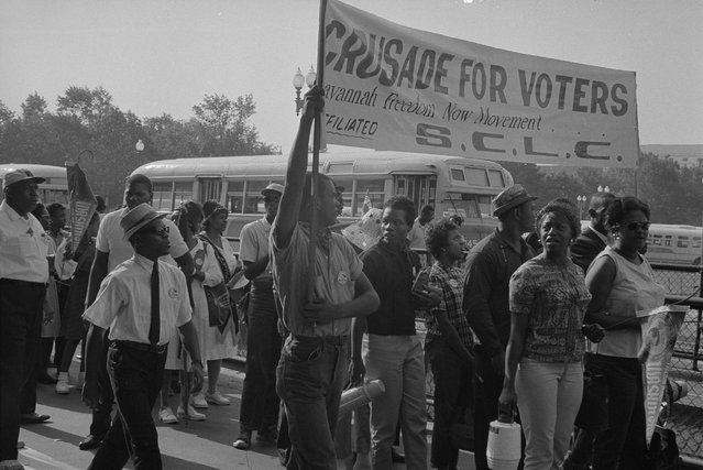 Marchers arrive for the civil rights march on Washington D.C., August 28, 1963. (Photo by Reuters/Library of Congress)