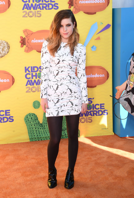 Singer Sydney Sierota of Echosmith attends Nickelodeon's 28th annual Kids' Choice Awards held at The Forum on March 28, 2015, in Inglewood, California. (Photo by Jason Merritt/Getty Images)