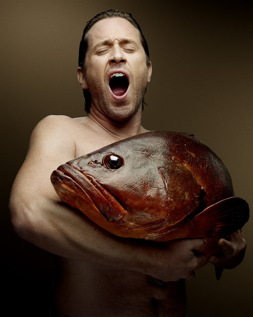 """""""Fish Love"""" Project by Photographer Denis Rouvre. Thomas Dutronc. (Photo by Denis Rouvre)"""