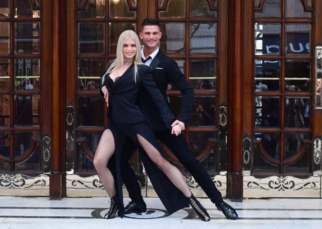 Stricly Come Dancing stars Aljaz Skorjanec and Nadiya Bychkova launching their new show, Here Come the Boys, at the London Palladium on Tuesday, May 25, 2021. (Photo by Ian West/PA Images via Getty Images)