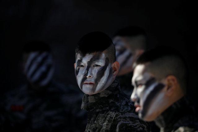 South Korean Marines participate in a winter military drill in Pyeongchang, South Korea, January 24, 2017. (Photo by Kim Hong-Ji/Reuters)
