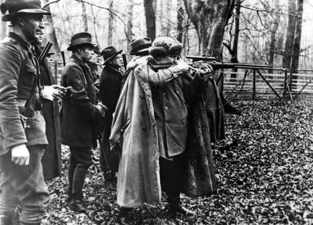 General Hermann Goering, Premier of Prussia, as he took aim at a boar during a hunt near Hanover, Germany, on December 9, 1935. (Photo by AP Photo)