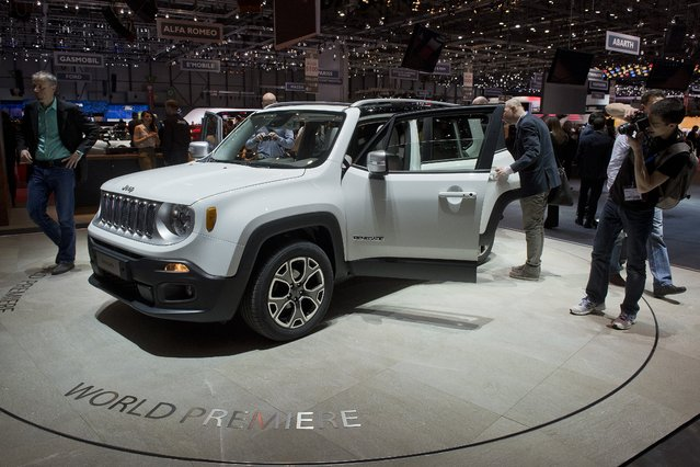 The New Jeep Renegade is  on display at the 84.  Geneva International Motor Show in Geneva, Switzerland, Tuesday, March 4, 2014. (Photo by Sandro Campardo/AP Photo/Keystone)