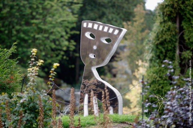 A sculpture entitled Miu by Nadim Karam