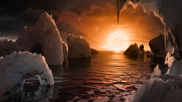 The possible surface of TRAPPIST-1f, one of seven newly discovered planets in the TRAPPIST-1 system that scientists using the Spitzer Space Telescope and ground based telescopes have discovered. (Photo by Reuters/NASA/JPL-Caltech)