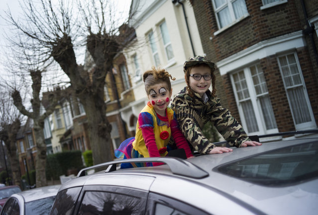 Children in fancy dress during the annual Jewish holiday of Purim on March 12, 2017 in London, England. (Photo by Dan Kitwood/Getty Images)