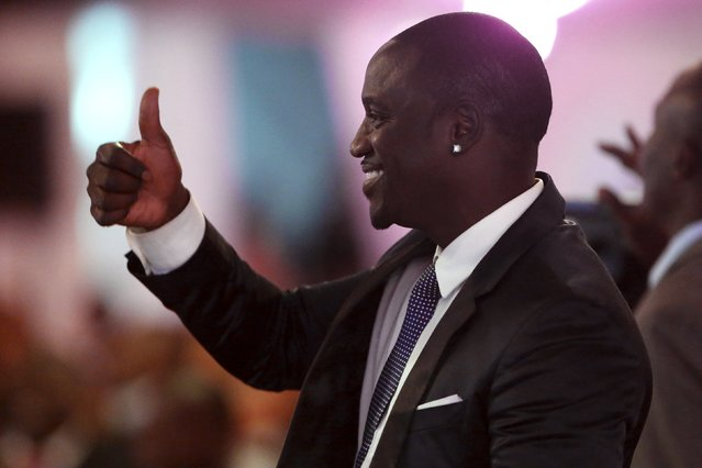 Recording artist Akon attends a state dinner in U.S. President Barack Obama's honor at the State House in Nairobi July 25, 2015. (Photo by Jonathan Ernst/Reuters)