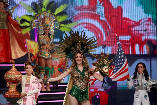 Mexico's Valentina Fluchaire poses at the final show of the Miss International Queen 2020 transgender beauty pageant in Pattaya, Thailand on March 7, 2020. (Photo by Soe Zeya Tun/Reuters)