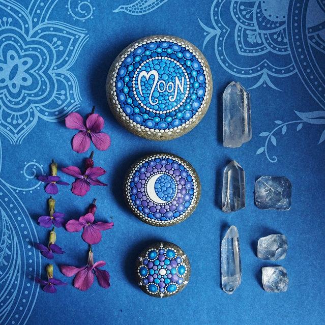 Hand-Painted Stones By Elspeth McLean