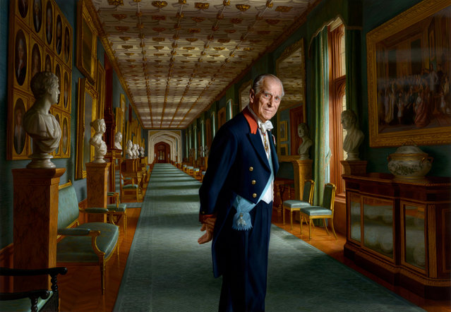 A painting by Australian born artist Ralph Heimans of Britain's Duke of Edinburgh, London, Britain, December 10, 2017. (Photo by Ralph Heimans/Reuters/Buckingham Palace)