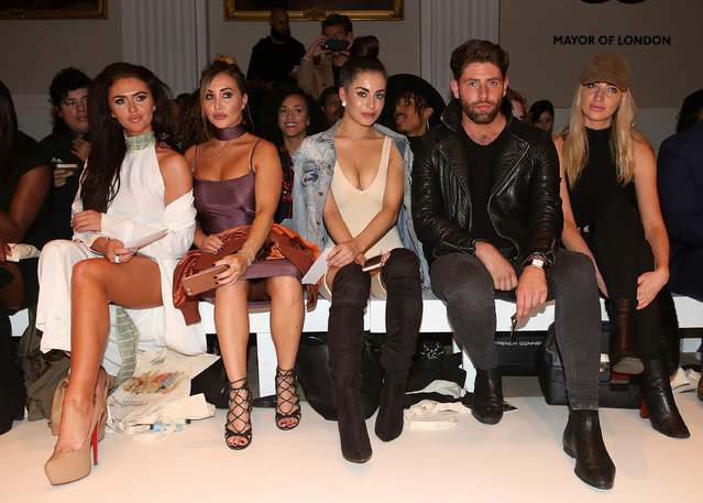 Katie Salmon, Lauryn Goodman, Charlotte Dawson, Lauren Whiteside and Sam Griffen attends the House of Mea show during London Fashion Week Spring/Summer collections 2016/2017 on September 18, 2016 in London, United Kingdom. (Photo by Danny Martindale/WireImage)
